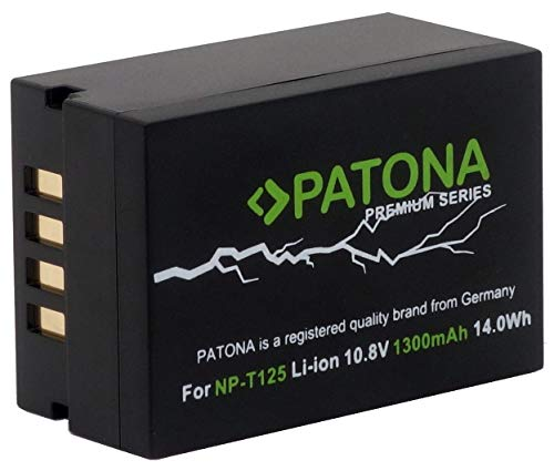 PATONA Premium Ersatz für Fujifilm NP-T125 Hochleistungsakku 14.0Wh - GFX 50s GFX 50s II GFX 50R GFX 100