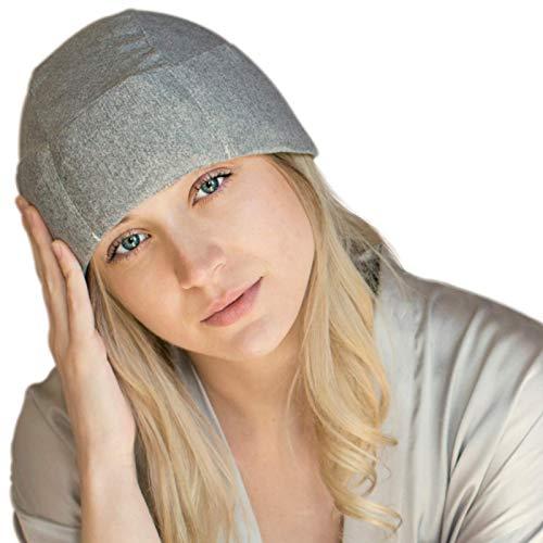 Chapéu de gelo de gel de enxaqueca da FOMI Care | Pacote de dor de cabeça refrescante | Envoltório de terapia fria para alívio de tensão, sinusite, alívio de dor de pressão | Alivia o estresse | congelável