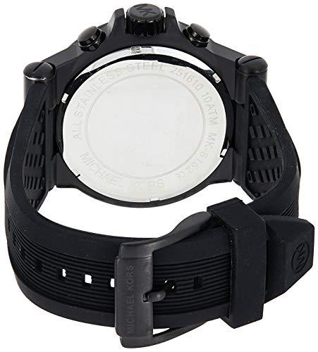 MICHAEL KORS - MK8152 - Chronographe - Montre Homme - Bracelet en caoutchouc noir