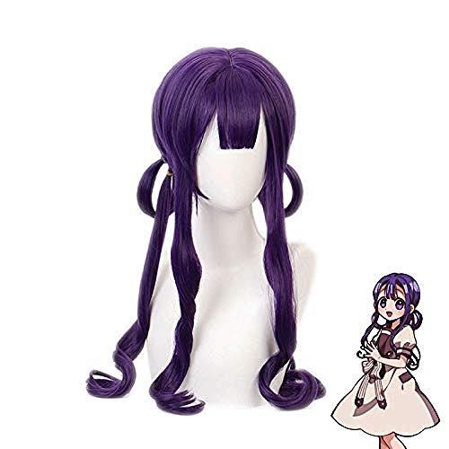 Anime Kwai Akane Aoi prpura peluca larga Cosplay disfraz Jibaku Shounen bao-encuadernado Hanako-kun pelo sinttico mujeres pelucas