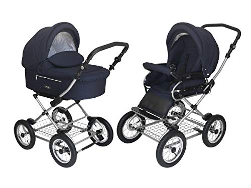 New Roan Kortina Classic 2-in-1 Pram Stroller with Bassinet for Newborn Baby and Toddler Reclining S...