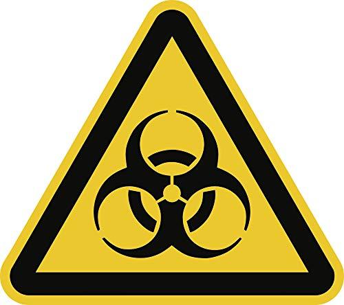 Piktogramm - Warnung vor Biogefährdung Folie 2cm sl LE = 12 Piktogramme/Bogen, Preis/Piktogramm gemäß ASR A 1.3/BGV A8/DIN 4844