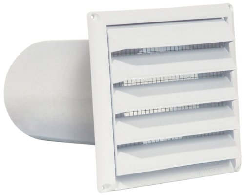 "Imperial 4"" Premium Intake Hood with Built-In Pest Guard Screen, White, PAT-4W"