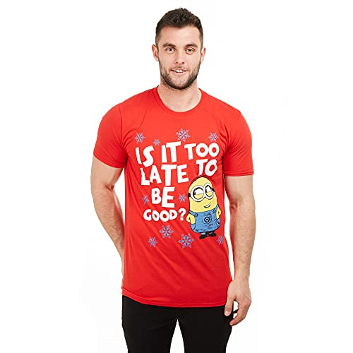 Despicable Me Herren is It Too Late to Be Good T-Shirt, Rot (Red Red), XXL