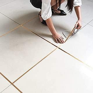 KI85UZ vanzlife Bedroom Waterproof and Mildew Seam Decorative Stickers Gap Wedding Decoration Room Floor Wall Stickers self-adhesiveGold-1cmX50m