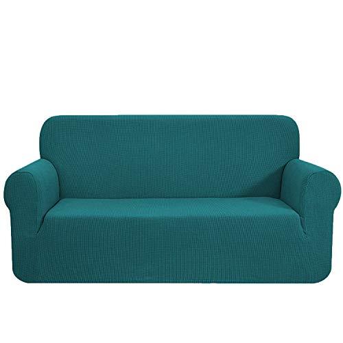 E EBETA Elastisch Sofa Überwürfe Sofabezug, Stretch Sofahusse Sofa Abdeckung Hussen für Sofa, Couch, Sessel 3 Sitzer (Olivgrün, 185-235 cm)