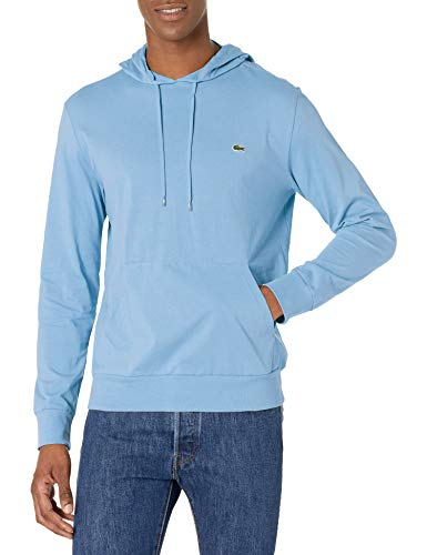 Lacoste Men's Long Sleeve Hooded Jersey Cotton T-Shirt Hoodie, NATTIER Blue 07E, XL