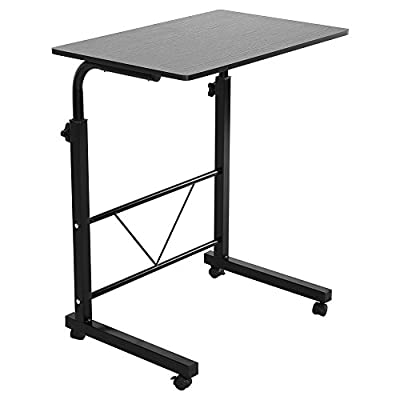 Adjustable Mobile Laptop Desk,Height Adjustable Laptop Computer Table Sofa Bedside Portable Standing Notebook Desk Movable Laptop Cart Tray with Casters,Panel Size 23.7×15.7""