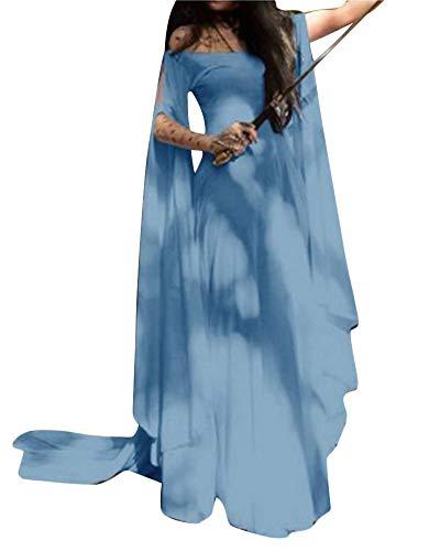 PengGengA Mujer Traje Medieval Irregular Disfraz De Reina Princesa Medieval Vestido Gotico Trapear Cosplay Zarco M