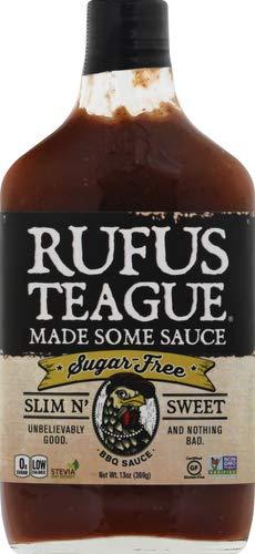 Rufus Teague BBQ Sauce, Slim N' Sweet, 16 OZ