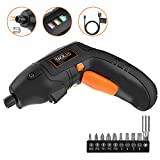 Tacklife 5.0 N.m Electric Cordless Screwdriver, 3.6V 1500 mAh Lithium-Ion Battery with 10