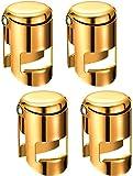 4 Stück Gold Champagner Verschluss Stopfen Edelstahl Verschluss Stopfen Satz