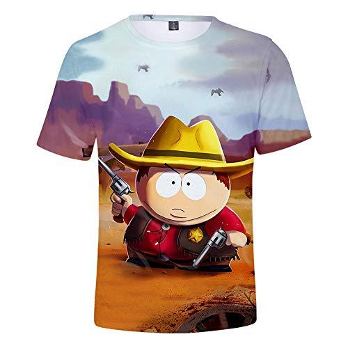 Ywfzzxs T-Shirt 3D Tops Mode-T-Shirts Unterhemden Kurzarm Unisex Neuheit Kostüm HD Anime Druck South Park