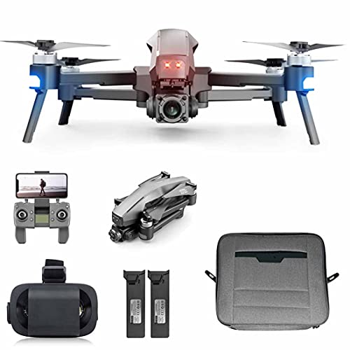 LIYU Faltbare Fotografie Drohne M1 5G WiFi 6K HD Erste Perspektive Antenne RC Drohne 2-Achsen Gimbal Brushless Motor Doppelbatterien Quadcopter mit VR-Brille