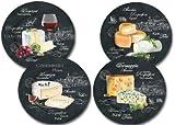 4 Käseteller World of Cheese - Porzellan