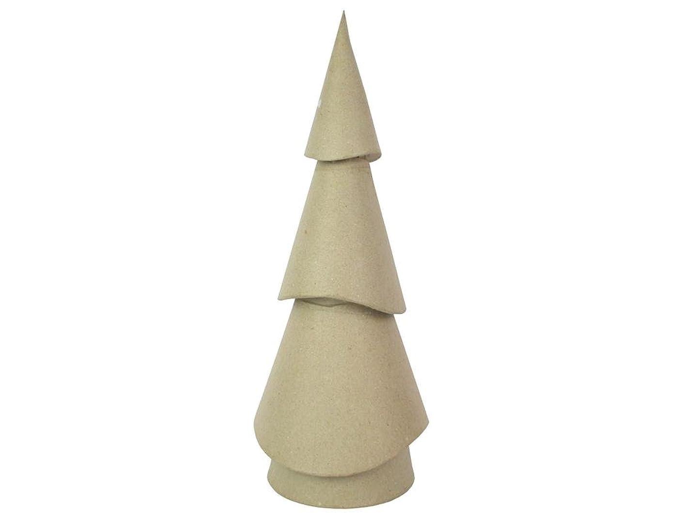 Craft Pedlars Lg Paper Mache Wavy Cone Tree 17.5