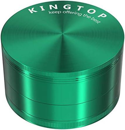 KINGTOP Spice Manufacturer OFFicial shop Grinder Large Green Inch Sales 3.0