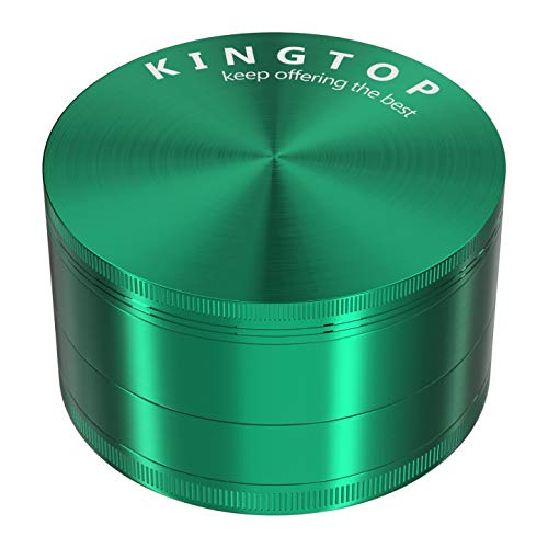 KINGTOP Spice Grinder Large 3.0 Inch (Green)
