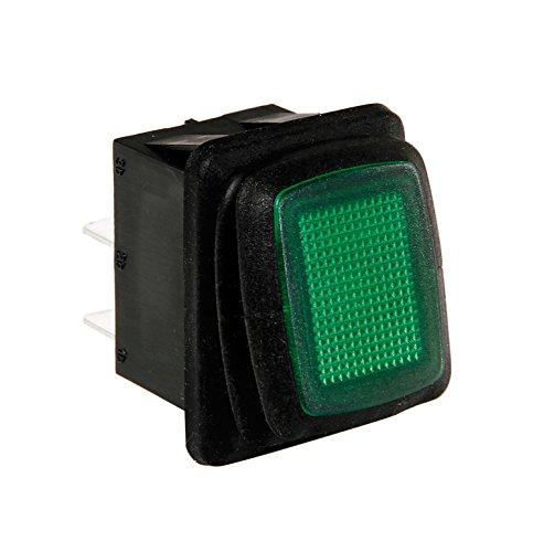 Lampa 45533 Interrupteur étanche avec LED, vert