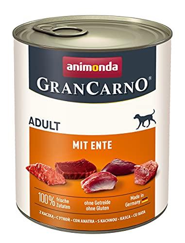 animonda GranCarno Adult Hundefutter, Nassfutter für Erwachsene Hunde, mit Ente, 6 x 800 g
