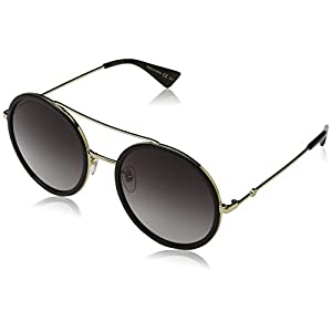 Fashion Shopping Gucci GG0061S 001 Gold 0061S Round Sunglasses Lens Category 3