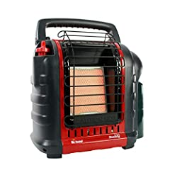 4,000- to 9,000-BTU radiant heater for spaces up to 225 square feet. Approved for indoor/outdoor use; clean-burning; nearly 100-percent efficient When operating the heater at altitudes over 7,000 FT above sea level the heater may shut off. Auto shut-...