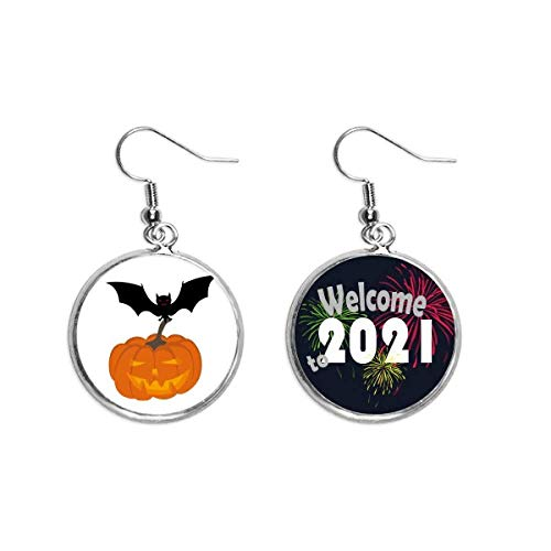 Brincos de abóbora morcego Halloween Hallowmas brincos joias 2021 Blessing