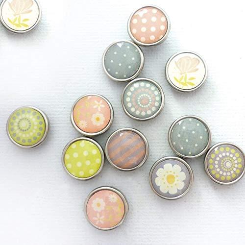 Graine Créative 12 Mini-Magnete, Epoxidharz, Ø 12 mm, Frühling