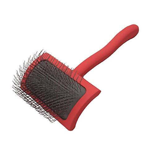 Chris Christensen Big G Dog Slicker Brush for Grooming, GroomGrip Coating, Medium, Coral