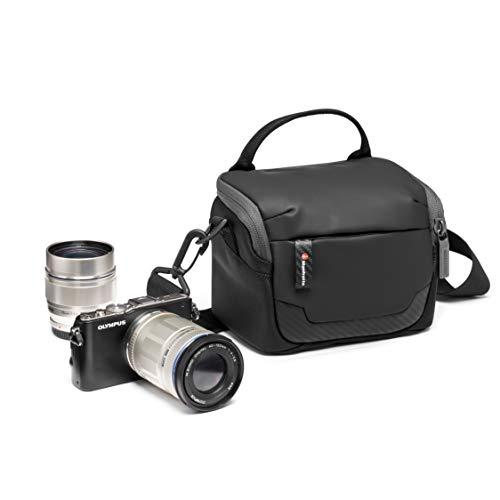 Manfrotto MB MA2-SB-XS Advanced² - Bolsa de Hombro, tamaño XS, para cámara sin Espejo con Objetivo estándar, con Varios Bolsillos, Correa de Hombro extraíble, Tela revestida