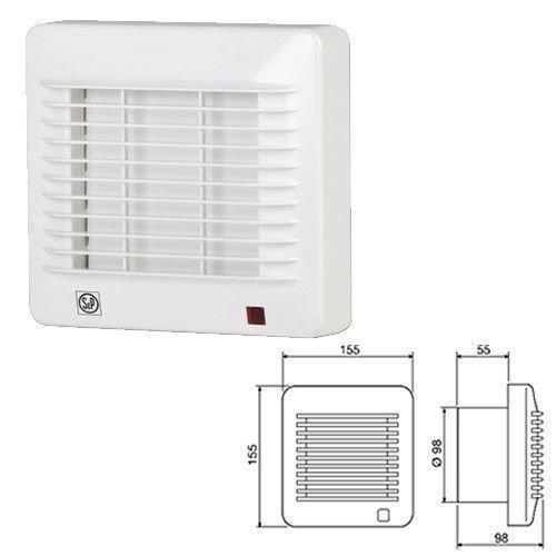 Soler&Palau Sistemas De Ventilacion Slu Edm-100-C - Extractor baño axial 95m3/h pers.aut bl edm-100c s&p
