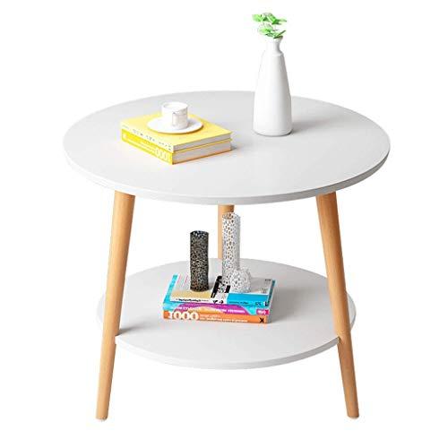 Soul hill nachtkastje moderne kleine ronde tafel nachtkastje slaapkamer salontafel woonkamer einde tafel anti-Skid mini bijzettafel theepot eindtafels (kleur: geel)