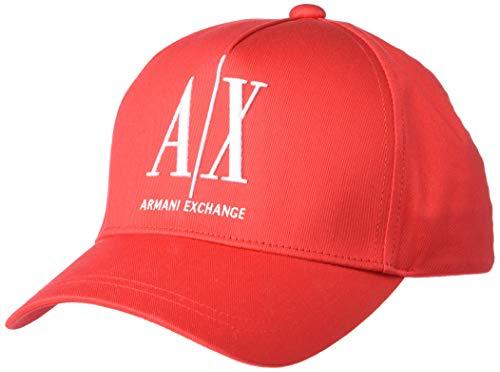 Armani Exchange AX Herren Baseballkappe, Icon Red, Einheitsgröße