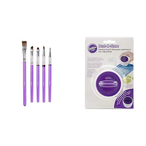 Wilton Decorating Brush Set/5 Werkzeug, Kunststoff, violett, 0,89x11x27 cm, 5-Einheiten & Wilton...