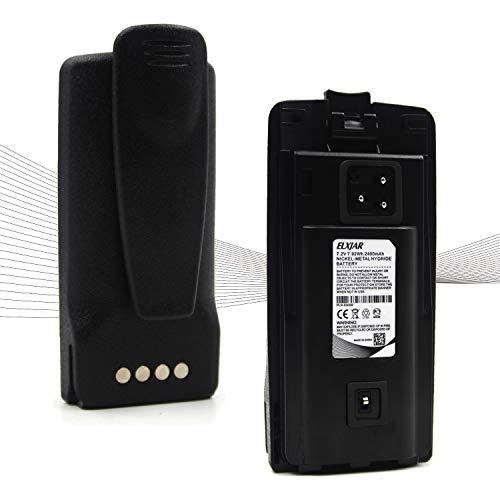 (2-PACK) 7.2V 2200MAH NI-MH 대체 모토로라 라디오 CP110 CP1180 RDU2020 RDU4160 RDU4160 RDV2080D RDV5100 RLN6305B RLN6308B RLN6351B RDV2020 RDV5100+ 벨트 클립용 2웨이 라디오 배터리