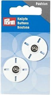 Prym Sew-on Snap Fasteners 圆形 25 毫米,白色,9.3 x 4.9 x 0.5 厘米