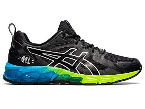 ASICS Men's Gel-Quantum 180 6 Shoes, 9.5M, Black/AIZURI Blue