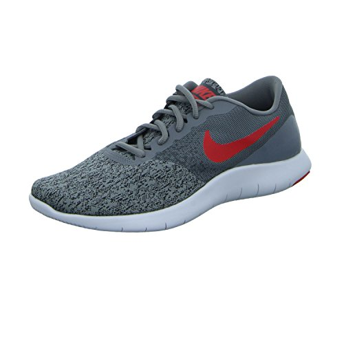 Nike Men's Flex Contact Running Shoes-Cool Grey/University Red-13