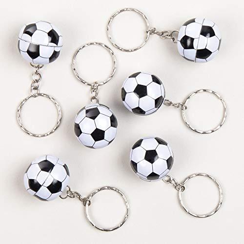 Baker Ross Fußball-Schlüsselanhänger - Spielzeug für Kinder als Mitgebsel zum Kindergeburtstag - 12 Stück