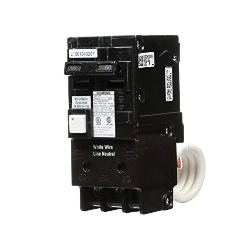 Siemens QF260A 60 Amp, 2 Pole, 120/240V Ground Fault Circuit Interrupter with Self Test Feature