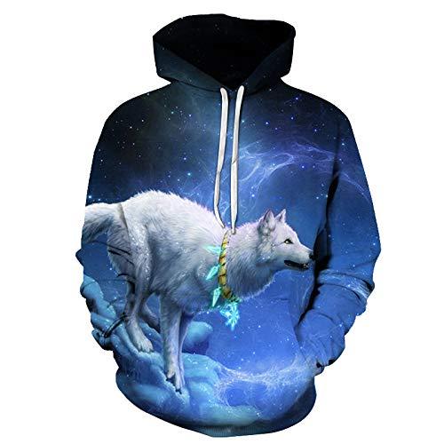 Pullover Hoodie Loose Casual Wolf Tiger Dragon Ball Deer 3D-Druck Loose Hooded Sweatshirt 2020 Frühling Neu