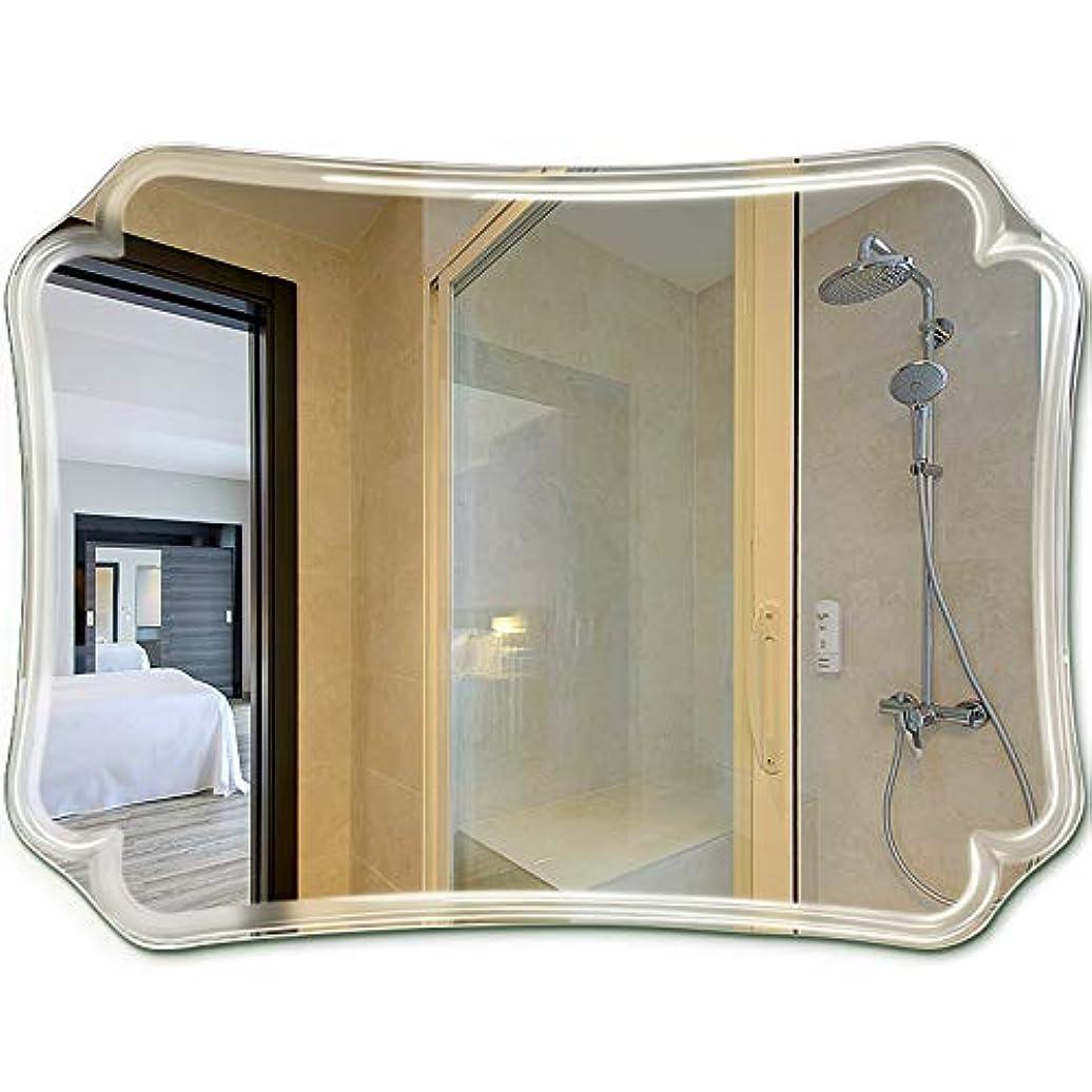 韻振り子アイスクリームYONGMEI ミラーのバスルーム無垢のバニティミラー壁掛けの長方形のドレッシングテーブルミラー、フックのインストール (色 : クリア, サイズ さいず : 60*80cm)