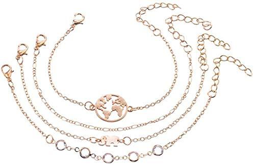 YS Bracelet Elephant World Map Crystal Bracelet Multilayer Bracelet Bracelet Accessories