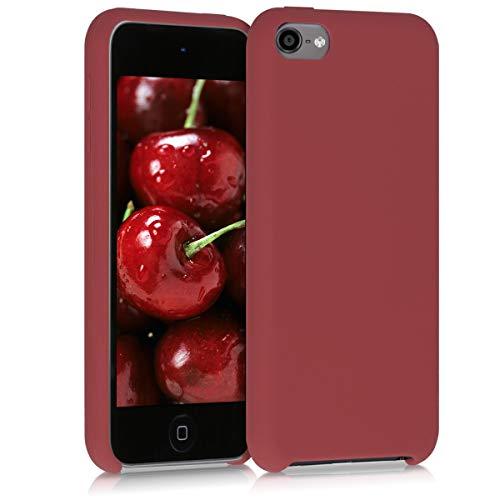 kwmobile Hülle kompatibel mit Apple iPod Touch 6G / 7G (6. und 7.Generation) - Handyhülle gummiert - Handy Case in Kastanienrot