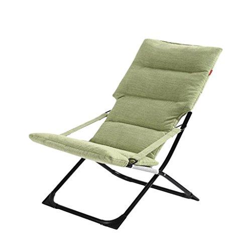 Chaise Pliante Chaise de Bureau de Loisirs Chaise de Pause pour déjeuner Chaise de Balcon pour extérieur Chaise Pliante Amovible (Couleur : Green)