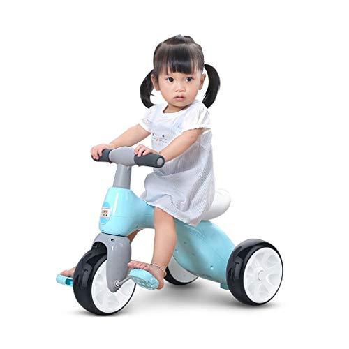 GYF Fácil de Llevar Regalos a los niños de Juguete de Tres Ruedas Muchacha de los niños de 1 a bebé de 3 años de Edad, Amor Walker niño (Color : Blue)