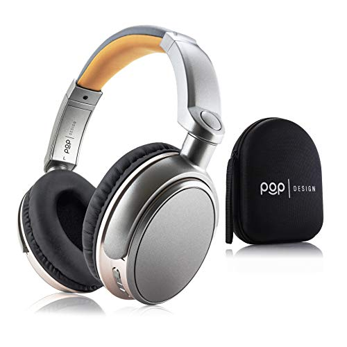 Over Ear Wireless Bluetooth Stereo Headphones | Built in Mic and Optional Wired Mode | 16 Hour Battery Life | Compatible with All-new Kindle Paperwhite & Oasis, Apple, Samsung, and Android Devices