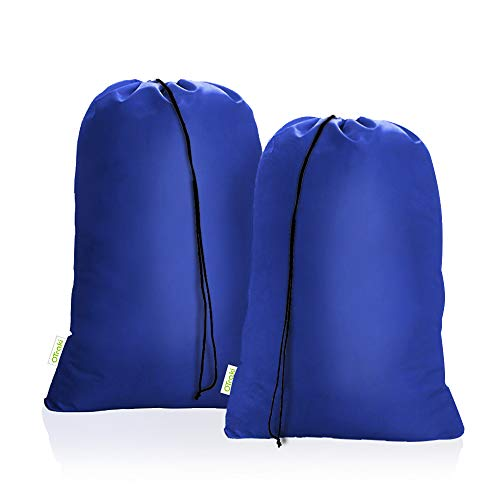 OTraki Heavy Duty Large Laundry Bags 2 Pack 28 x 45 inch XL Drawstring Travel Organizer Bag Fit Hamper Basket Camp Home College Dorm Tear Resistant...