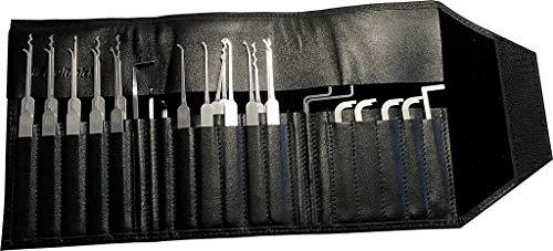 Multipick ELITE 29 - Juego de ganzúas profesionales (29 piezas, 0,4 + 0,6 mm, acero para muelles de alta calidad, juego de herramientas de bloqueo profesional, fabricado en Alemania)