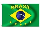 Alsino Länder Flaggen Fahnen zur Fußball WM Maße 90x150 cm, Land wählen:FL-03a Brasilien
